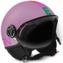 Momo Design Fgtr Baby jet helmet - Pink Matt/Multi