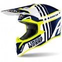 Airoh casco motocross Wraap Broken - Blue gloss