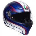 Agv casco modulare Compact St Boston - MattBlue/White/Red