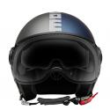 Momo Design casco jet Fgtr Evo - Joker Blu/Grigio Chiaro
