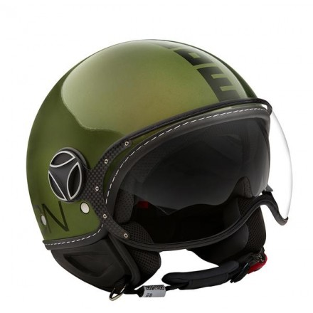 Momo Design casco jet Fgtr Evo - GreenMet/Black
