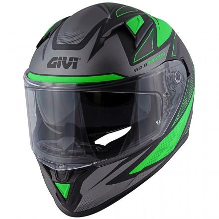 Givi casco integrale 50.6 Follow Lady - GlossyWhite/Fucsia/Black