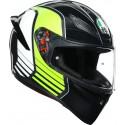 Agv casco integrale K1 Multi Power - Gunmetal/White/Green
