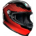 Agv casco integrale K6 Multi Rush - Black/Red