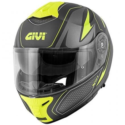 Givi X.21 Challenger Shiver flip up helmet - White/Blue/Red