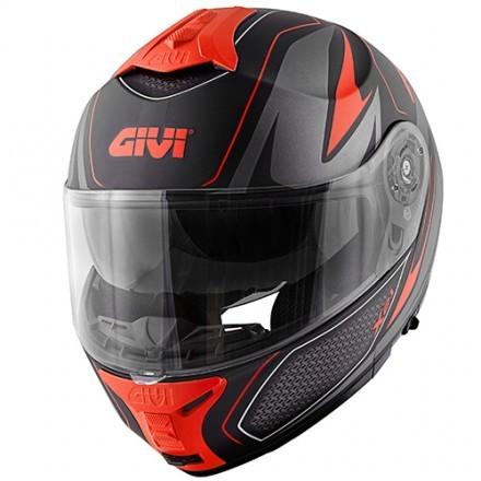Givi X.21 Challenger Shiver flip up helmet - Titanium/Silver