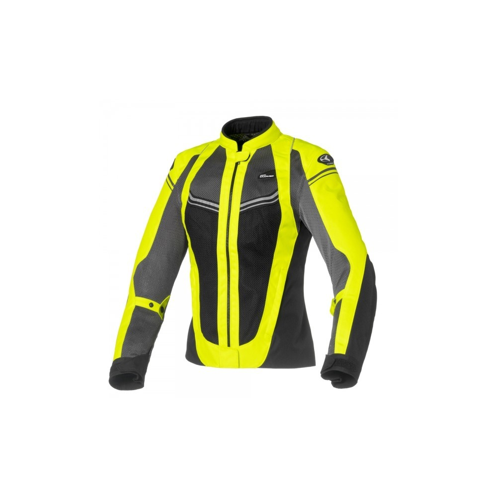 giacca moto donna clover airjet fluo