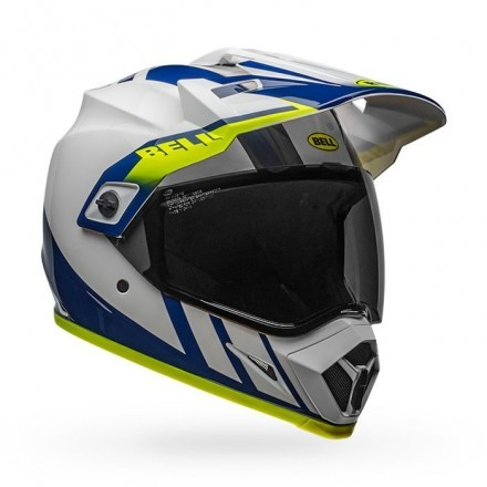 Bell casco integrale MX9 Adv Mips Dash - White/Blue/Yellow