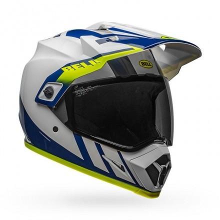 Bell casco integrale MX9 Adv Mips Dash - White/Blue/Yellow
