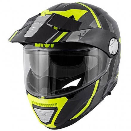 Givi casco modulare X.33 Canyon Layers - NeroOpaco/Giallo