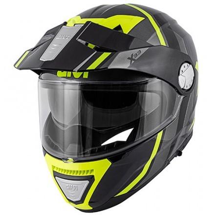 Givi X.33 Canyon Layers flip up helmet - BlackMatt/Yellow