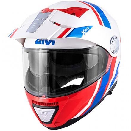 Givi casco modulare X.33 Canyon Division - Bianco/Rosso/Blu lucido