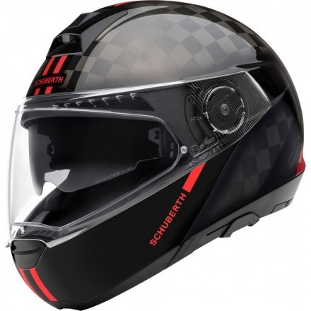 Schuberth C4 Pro Carbon flip up helmet - Fusion Red