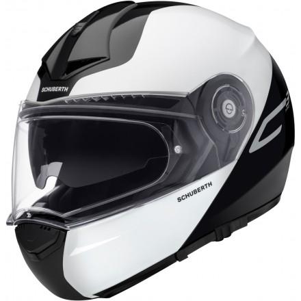 Schuberth C3 pro flip up helmet - Split Yellow