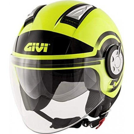 Givi 11.1 Air Jet-R Round jet helmet - FluoYellow/Black
