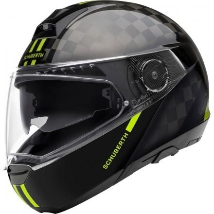 Schuberth casco modulare C4 Pro Carbon - Fusion Red
