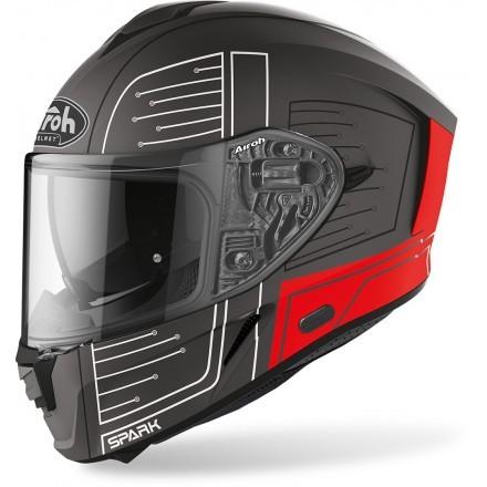 Airoh full face helmet Spark - Cyrcuit Red Matt
