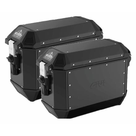 Givi coppia di valigie laterali MONOKEY® Trekker Alaska in alluminio nero 36 lt
