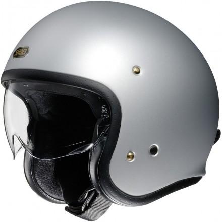 Shoei casco vintage jet J.O - Matt Light Silver