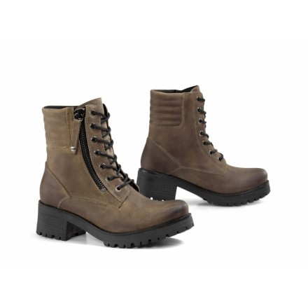 Falco Misty Leather Ladies Waterproof Motorcycle Boots With Heel Black 36