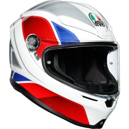 Agv casco integrale K6 Multi Hyphen - Black/Red/White