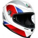 Agv casco integrale K6 Multi Hyphen - White/Red/Blue