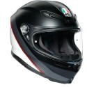 Agv casco integrale K6 Multi Minimal Pure Matt - Black/White/Red
