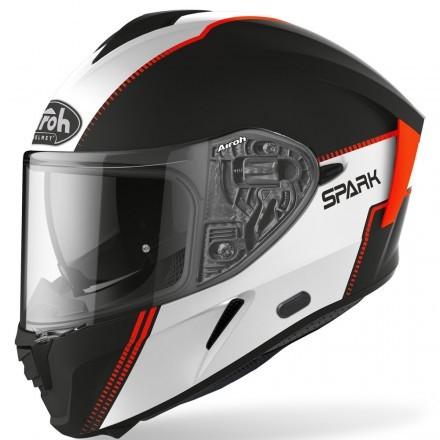 Airoh Spark full face helmet - Flow Blue/Red Gloss