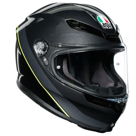 Agv casco integrale K6 Multi Minimal - Gunmetal Black Yellow Fluo