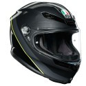 Agv casco integrale K6 Multi Minimal - Gunmetal Black Yellow Fluo