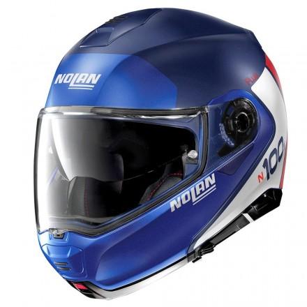 Nolan casco modulare N100-5 Plus Distinctive N-Com - 29 Flat Imperator Blue