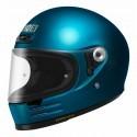 Shoei casco vintage integrale Glamster - Blu Laguna