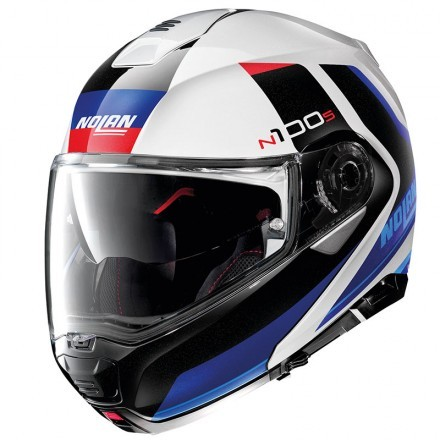 Nolan casco modulare N100-5 Consistency N-com - 21 Flat Silver