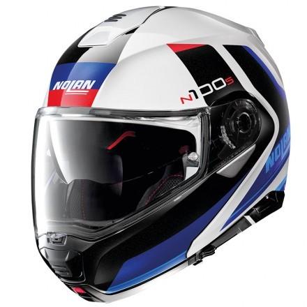 Nolan N100-5 Consistency N-com flip up helmet - 21 Flat Silver