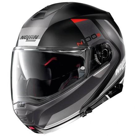 Nolan N100-5 Hilltop N-com flip up helmet - 49 Metal Blue White