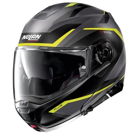 Nolan N100-5 Plus Distinctive N-Com flip up helmet - 29 Flat Imperator Blue