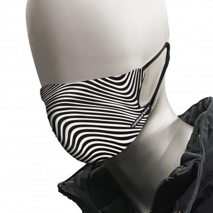Tucano Urbano mascherina Rina 2 pezzi - Graphic Black