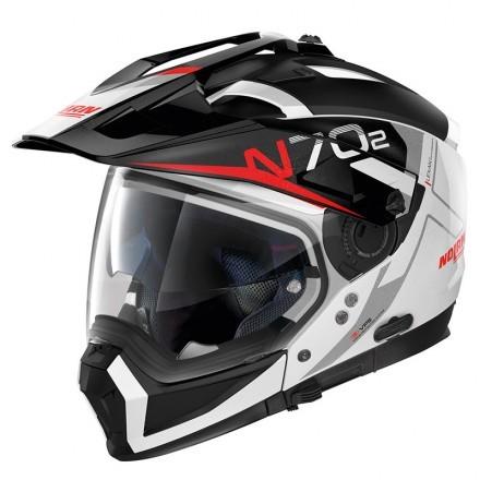 Nolan casco componibile N70-2 X Bungee N-Com - 39 Bianco lucido