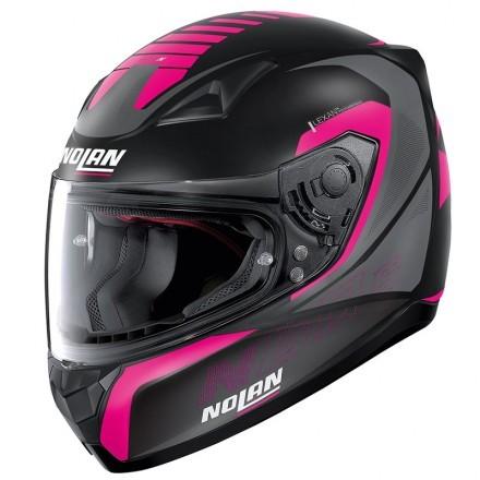 Nolan casco integrale N60-5 Adept - 83 Nero Rosa opaco