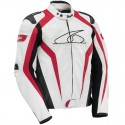 Spyke corsa gp leather jacket - White/Red