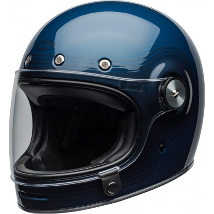 Bell casco vintage integrale Bullitt Flow Gloss - Light Blue/Dark Blue