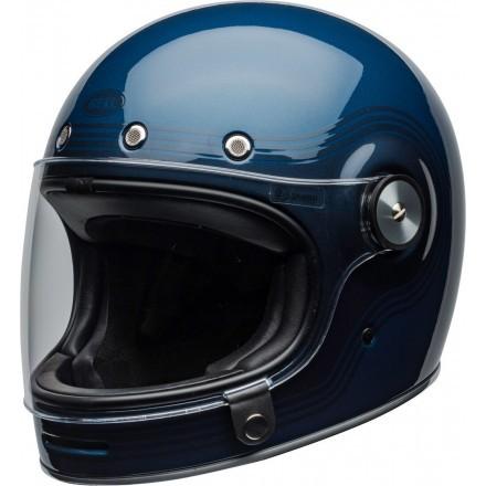 Bell casco vintage integrale Bullitt Flow Gloss - Light Blue/Dark Blue