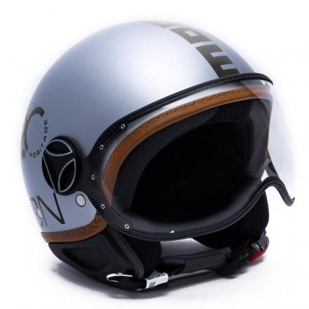 Momo Design casco jet Fgtr Heritage - Grigio Alluminio