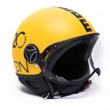 Momo Design Fgtr Heritage jet helmet - Yellow Matt