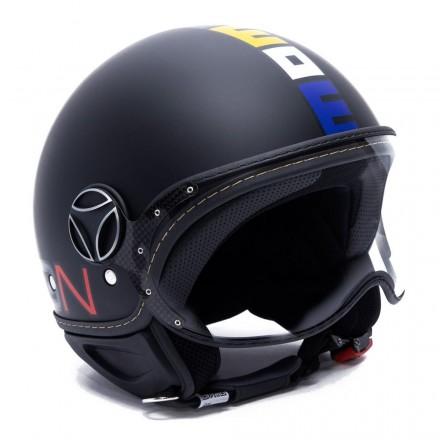 Momo Design Fgtr Classic jet helmet - BlackMatt/Multicolor
