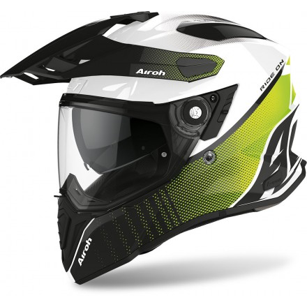 Airoh Commander Progress full face helmet - Lime Gloss