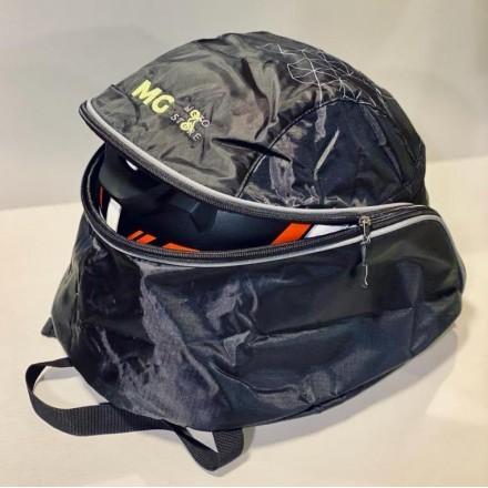 Bagster helmet backpack branded MG MOTOSTORE