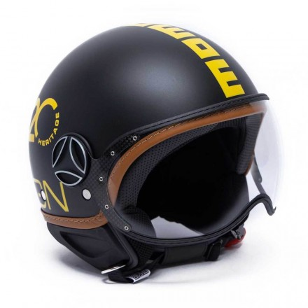 Momo Design casco jet Fgtr Heritage - Nero Opaco