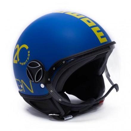 Momo Design casco jet Fgtr Heritage - Alpine Blu opaco