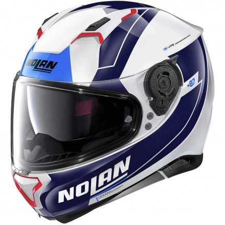 Nolan N87 Skilled N-Com full face helmet - 99 Metal White